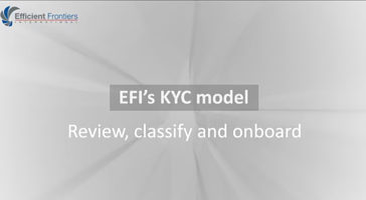 EFI's kyc model